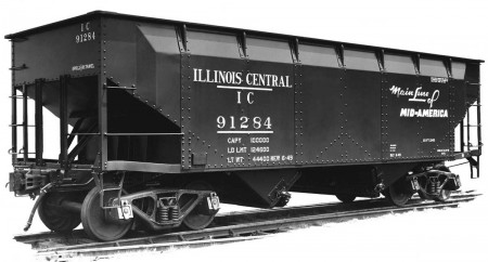 Illinois Central prototype  hopper image.
