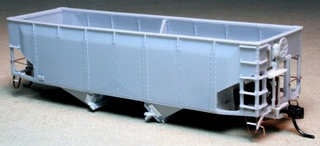 In-process Illinois Central hopper.
