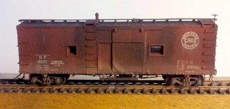 Westerfield Models Southern Pacific War Emergency caboose.