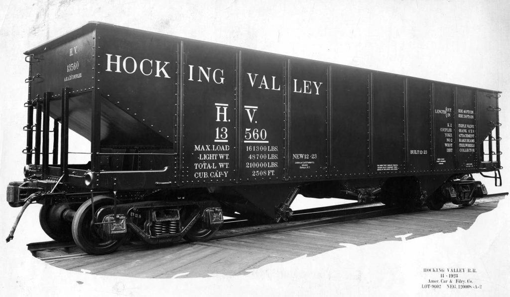 Hocking Valley prototype hopper photo