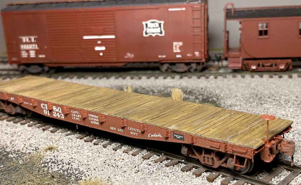Another look at  George Toman's CB&Q flat car model