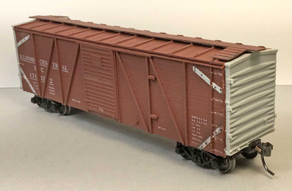 RCW Illlinois Central boxcar mini-kit. Lester Breuer model
