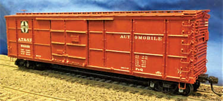 Westerfield Models AT&SF Fe-Q automobile boxcar